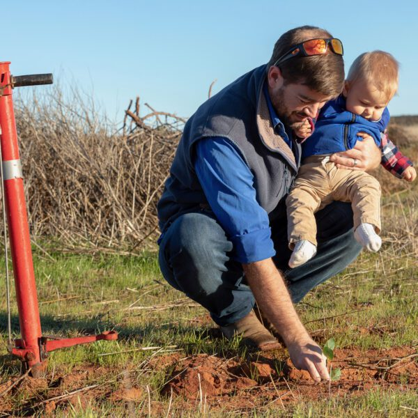 Eurardy Reserve planting with child